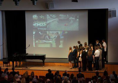 Präsentation des Imagefilms der Klasse 10b.